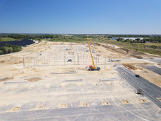 Photo par drone d'un suivi de chantier BTP à Tours, Indre et Loire 37