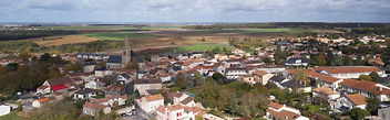 Photo drone communes collectivités centre bourg Montamisé