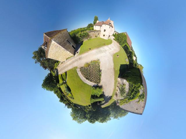 Photo panorama 360° par drone, agence immobilière à Châteauroux, Indre 36