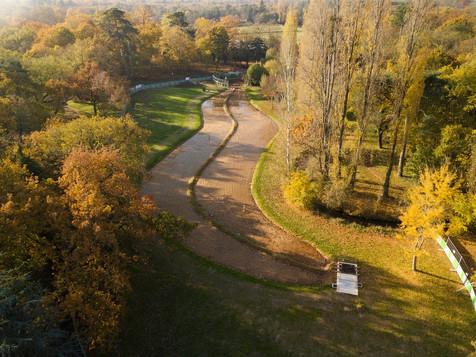 Photo par drone dans le Bois de Boulogne à Paris