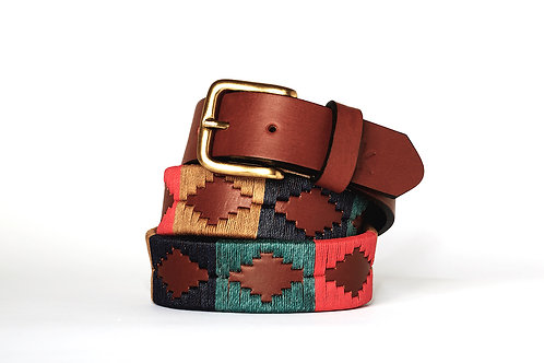 Leather polo belt CLASSIC