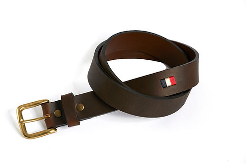 FRANCE DARK, Argentina Polo Belt, Brown leather, Unisex