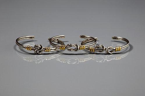 Adjustable silver knot bracelet