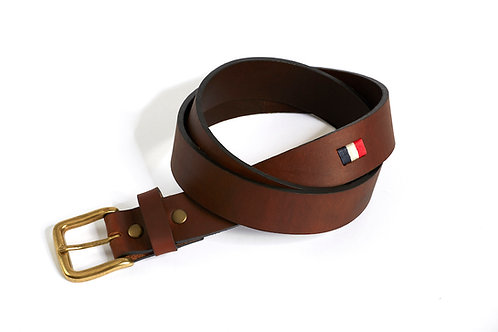 FRANCE LIGHT, Argentina Polo Belt, Brown leather, Unisex