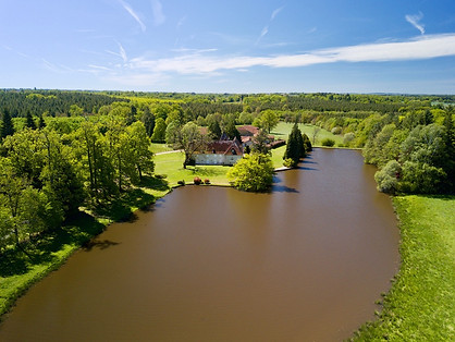 Beaufort Drone photo propriété domaine parc étang agnece immobilière Sologne Orléans Salbris Romorantin