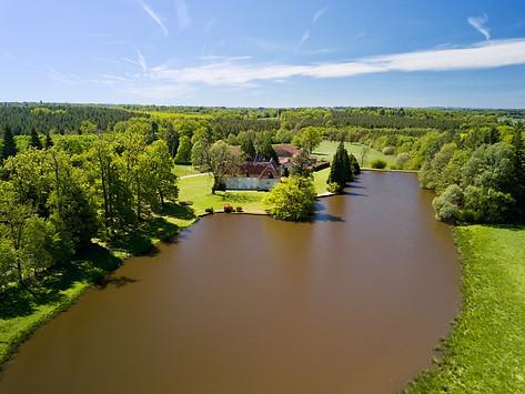 Photo par drone d'une propriété près de Limoges Haute Vienne 87