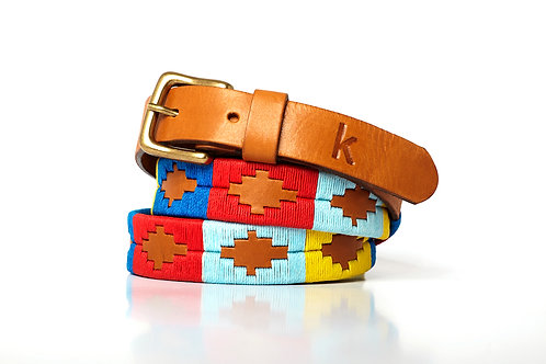 Leather polo belt MULTICOLOR 4
