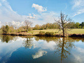 Photo vidéo par drone d'un étang et territoire en Limousin, Limoges Haute Vienne 87