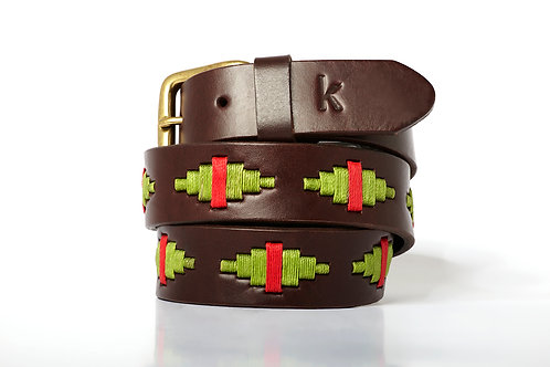 Polo belt Pistachio Red