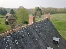 Photo par drone d'une inspection de toiture à Poitiers dans la Vienne 86