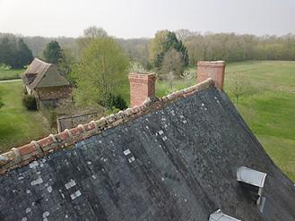 Beaufort Drone photo d'une inspection de toiture en Limousin Limoges travaux chantiers