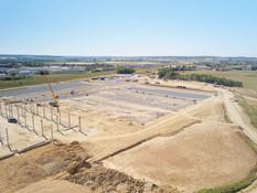Photo par drone d'un suivi de chantier à Tours, Indre et Loire 37