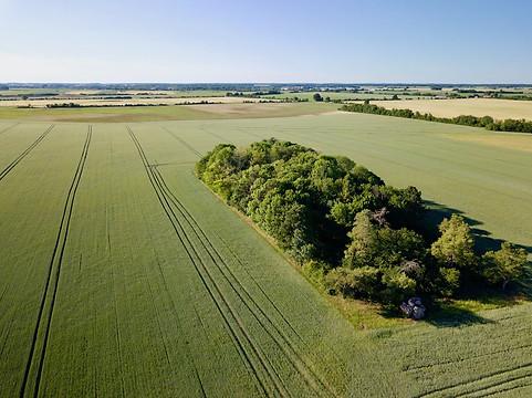 Paysage de campagne berichonne par Beaufort Drone