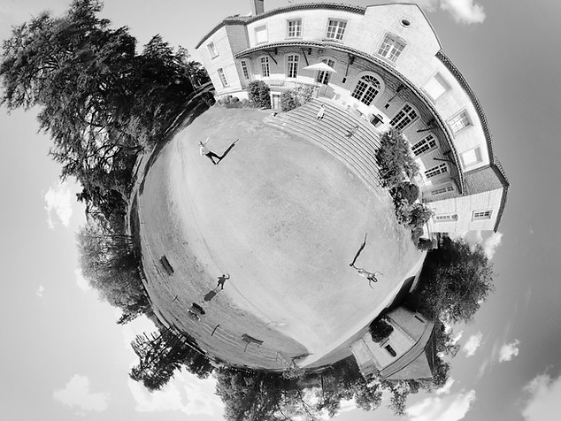 Photo little planet en drone à Poitiers