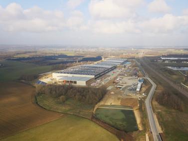 Photo de suivi de chantier par drone à Tours, Indre et Loire 37