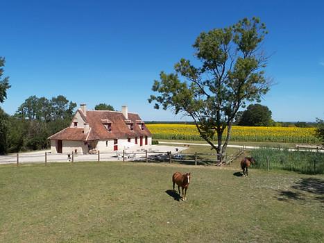Photo d'un Gîte de France par drone Indre Chateauroux