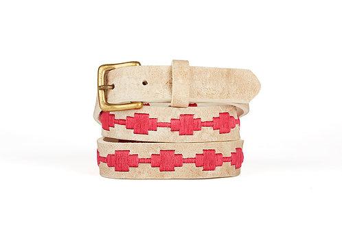 Raw Leather polo belt FUSCHIA