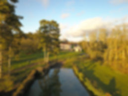 Photographie par drone d'une propriété près de Poitiers, à Montamisé en Poitou Charentes dans la Vienne