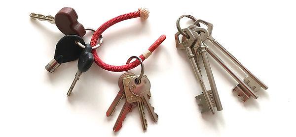 Porte clés Kamyno multi trousseaux en cuir cru tressé
