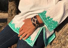 Bracelet argentin tissu et alpaca