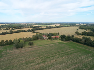 Photo drone Chateauroux paysage campagne