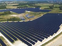 Photo drone parc photovoltaique Poitiers Vienne