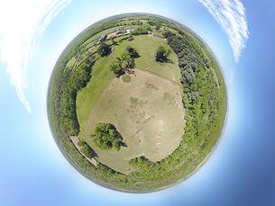 Photo sphere panorama 360° par drone propriété annonce immobilière little planet Poitiers Vienne