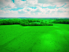 Prise de vue aérienne d'une campagne bérichonne