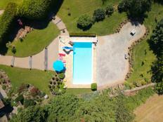Photo par drone d'un Gîte de France dans l'Indre 36 près de Châteauroux