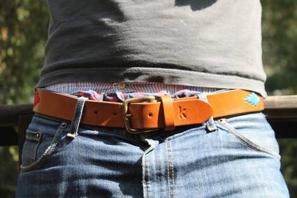 Polo gaucho leather belt from Argentina