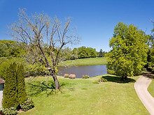 Beaufort Drone photo parc jardin et étang paysage nature flore Centre val de Loire