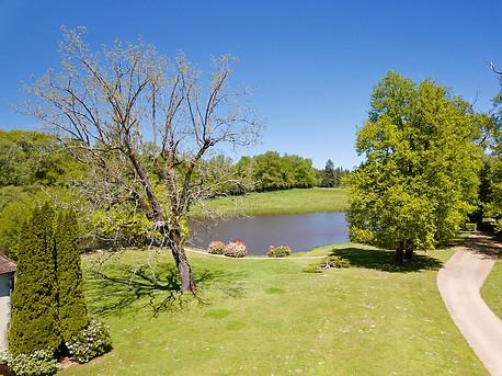 Beaufort Drone photo parc jardin étang Touraine Tours Chateaudun Chinon Loches