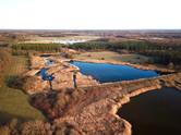 Photo par drone du Parc Régional Naturel de la Brenne, près de Châteauroux, Indre 36.