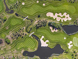 Beaufort Drone parcours terrain de golf