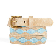 Leather polo gaucho belt from Argentina Blue Sky