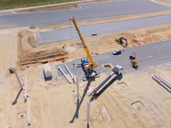 Photo par drone pour suivi de chantier à Poitiers dans la Vienne 86