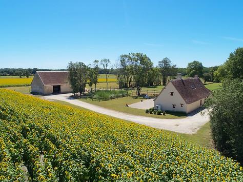 Photo par drone d'un Gîte de France dans l'Indre 86 Berry