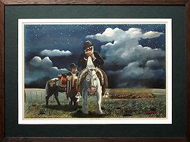 Lithopgraphie argentine représentant des scènes de la vie quotidienne des Gauchos, vu par Kamyno