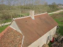 Beaufort Drone photo d'une inspection de toiture chantier travaux Evreux Normandie