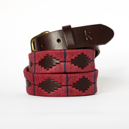 Polo gaucho leather belt from Argentina Bordeau Blue