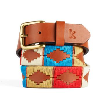 er belt from Argentina Blue Beige Red Brown