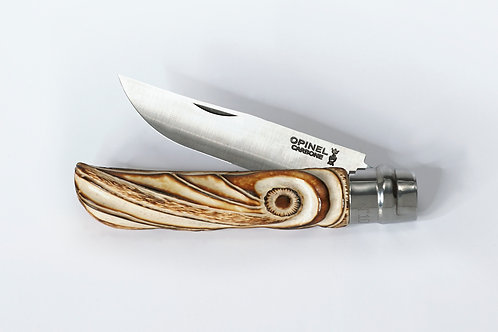 Deer antler Opinel knife