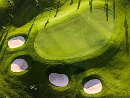 Beaufort Drone vue aérienne d'un green de golf terrain parcours trou