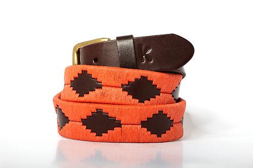 ORANGE, ArgentinPolo Belt, Brown leather, Unisex