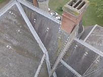 Inspection photo de toiture par drone pour préparation de chantier à Poitiers, Vienne 86.