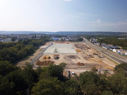 Suivi chantier btp drone Rouen 2