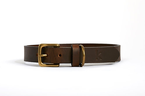 Leather collar SMOOTH