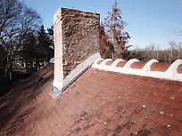 Beaufort Drone photo d'une inspection de toiture faitage travaux chantier en Berry Indre Chateauroux