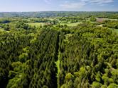 Photo par drone d'une propriété forestière à Limoges, Haute Vienne 87