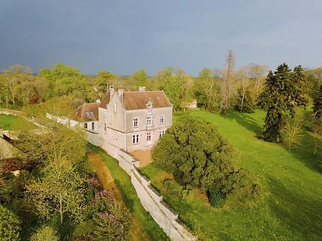 Photo par drone d'une propriété en Berry dans l'Indre 36 près de Châteauroux